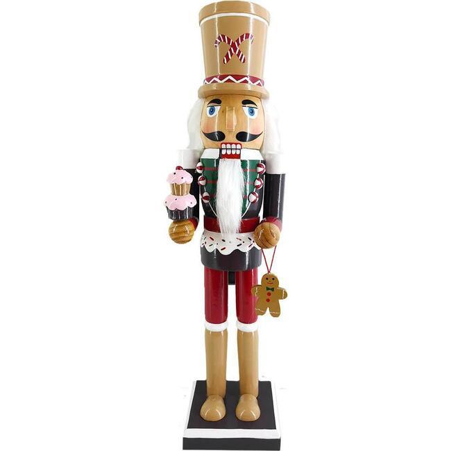 Soldier Gingerbread Nutcracker, Red/Green