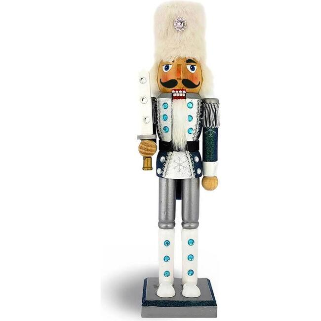 Snow Fantasy Nutcracker Soldier, Blue/White - Nutcrackers - 1