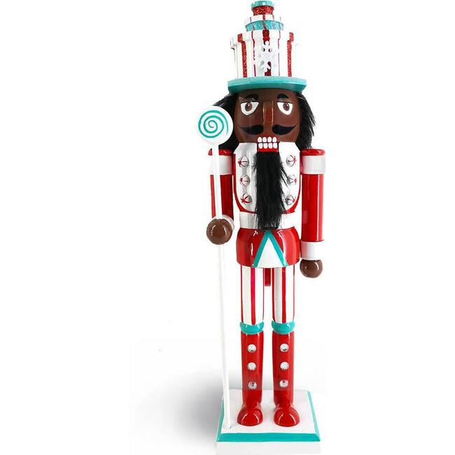 African American Candy Cane Nutcracker, Red/Green - Nutcrackers - 1