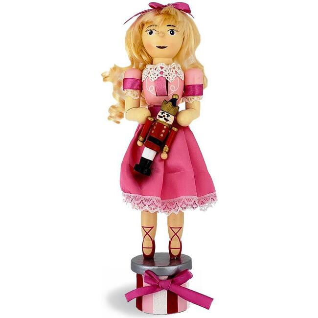 Clara Nutcracker Holding Her New Doll, - Nutcrackers - 1