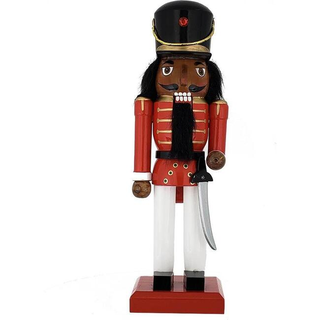 African American Soldier Nutcracker, Red/White - Nutcrackers - 1