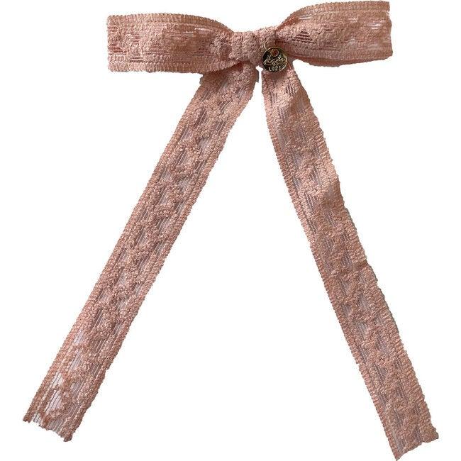 Isla Lace Knit Long Tail Clip, Ballet Slipper