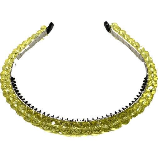 Crystal Tiara Headband, Lemon