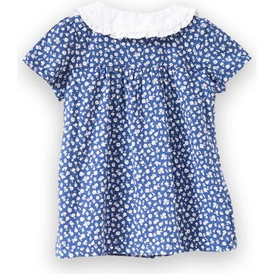Fae Dress, Blue Floral
