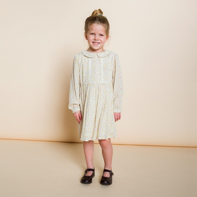 Ella Dress, Ditsy Yellow