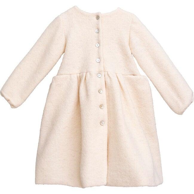 Sophia Coat, Boiled Wool White