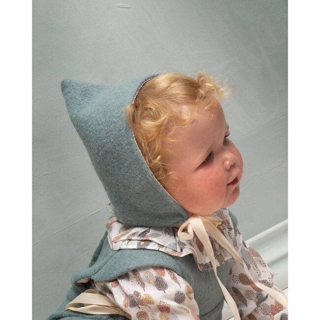 Daphne Bonnet, Boiled Wool Aqua