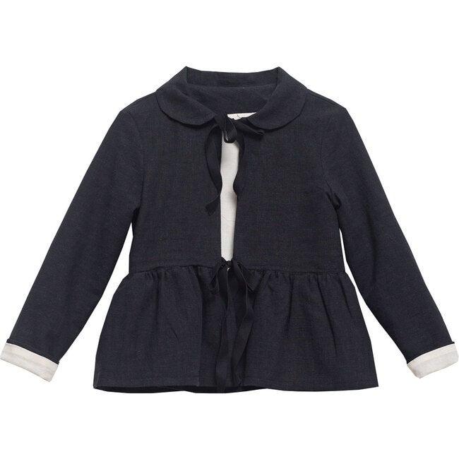 Bo Jacket, Black Linen