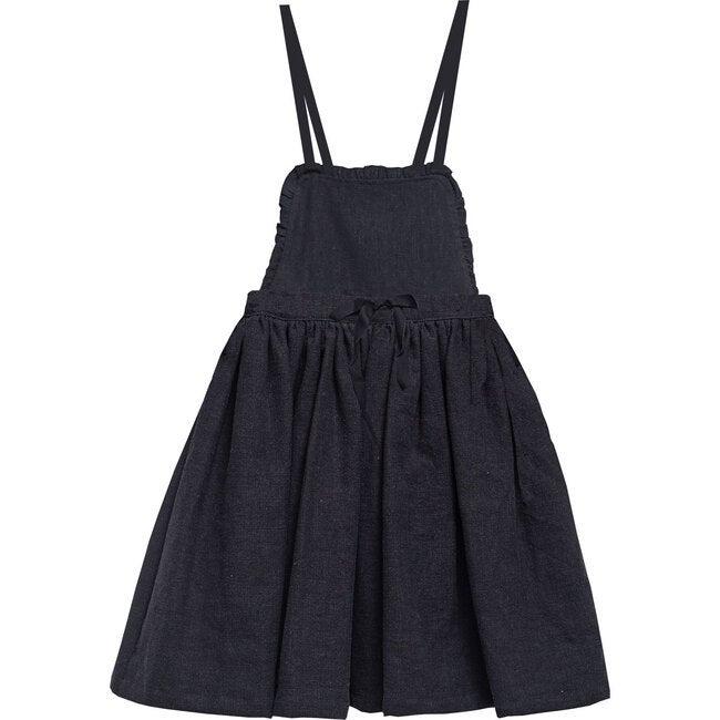 Elgon Skirt, Black Linen