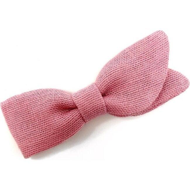 Petal Bow Clip, Rose Double Gauze