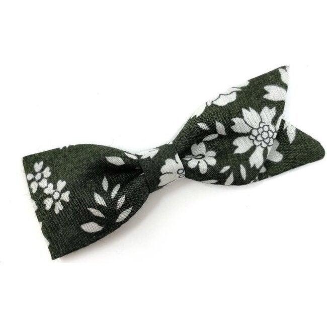 Petal Bow Clip, Liberty Olive Floral
