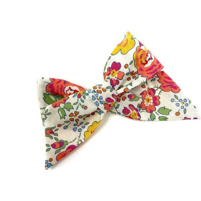 Baby Tied Bow Clip, Liberty Roses