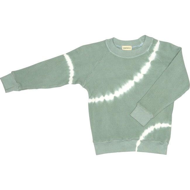 Tie Dye Thermal Pullover Sweatshirt, Sage