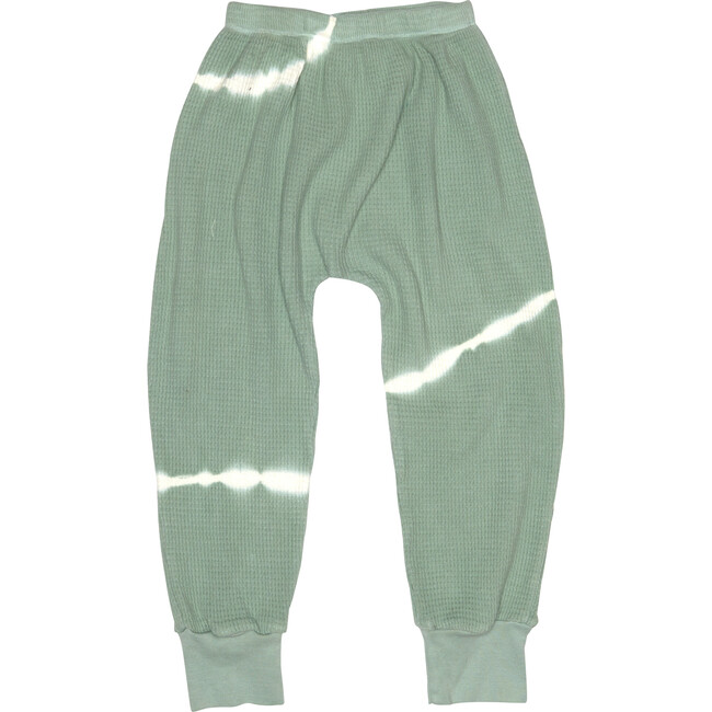 Tie Dye Thermal Trouser Sweatpants, Sage