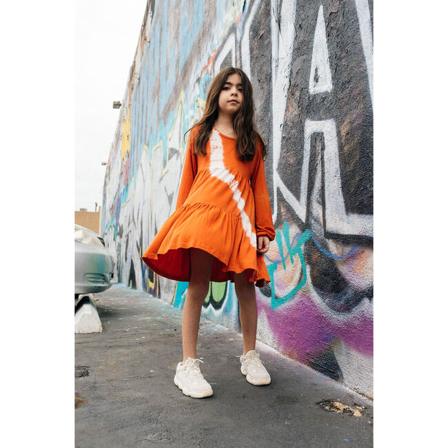 Tie Dye Field Dress, Persimmon