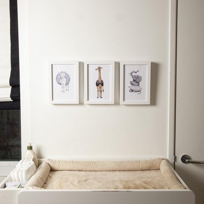 Set of 3 Fancy Animals Prints, Tiaras