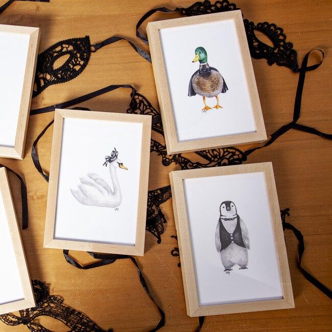 Set of 3 Fancy Animals Prints, Birds