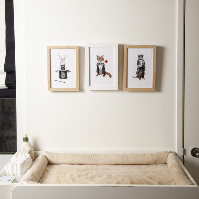Set of 3 Fancy Animals Prints, Boys Night Out