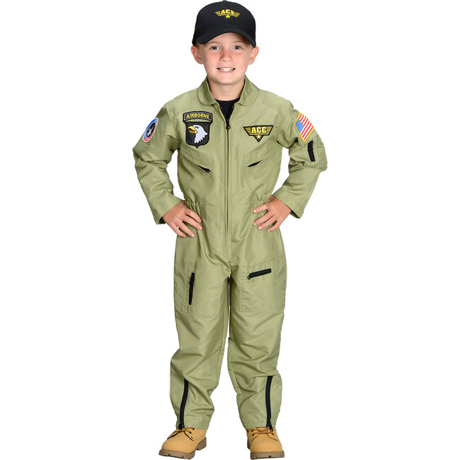 Jr. Fighter Pilot Suit with Embroidered Cap