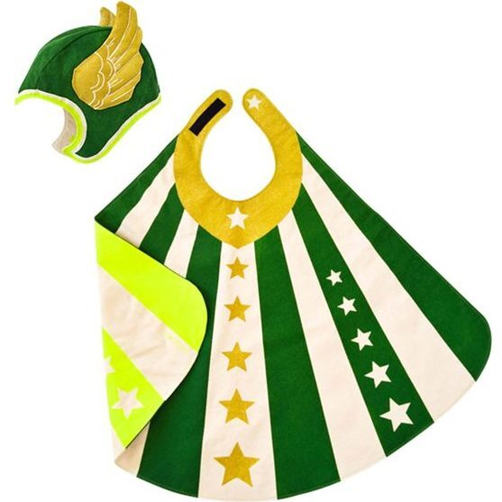 Flying Super Hero Set, Green - Costumes - 1