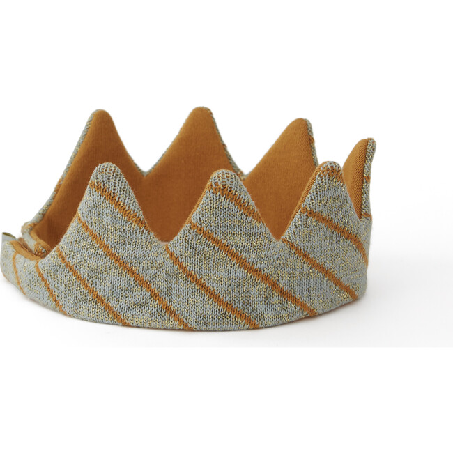 King Costume Crown, Camel/Tourmaline