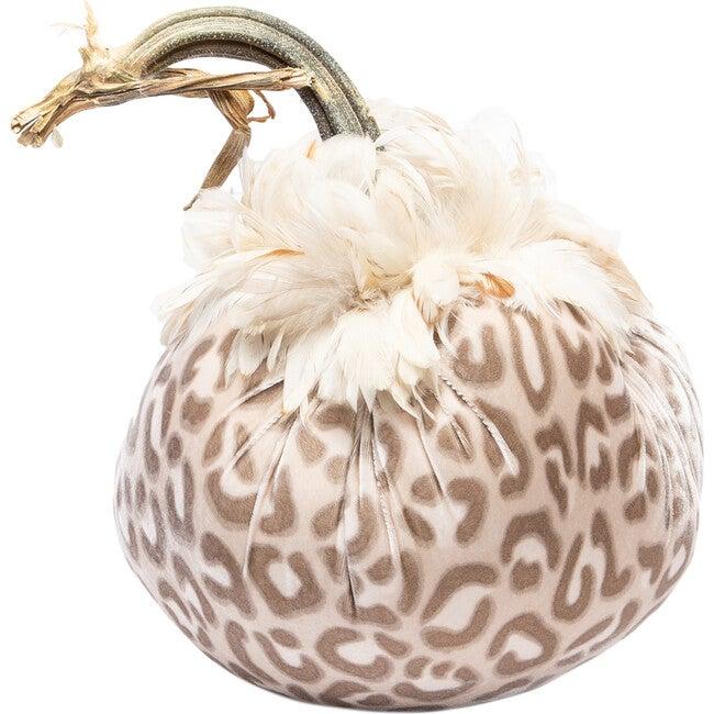 Feathered Velvet Pumpkin, Snow Leopard
