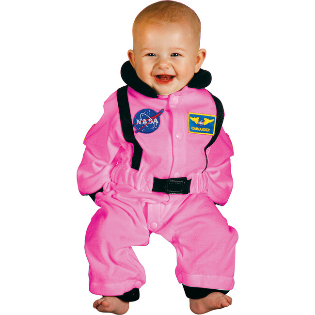 Jr. Astronaut Romper, Pink - Costumes - 1