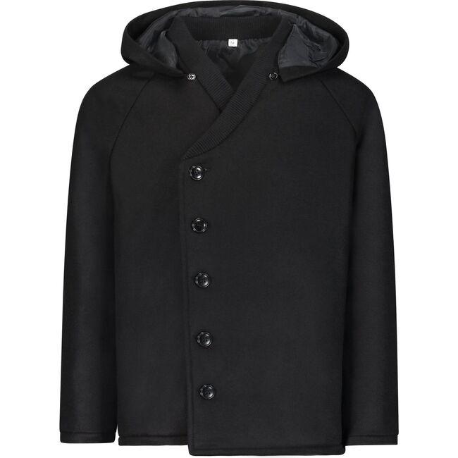 The Night Sky Coat, Black Wool
