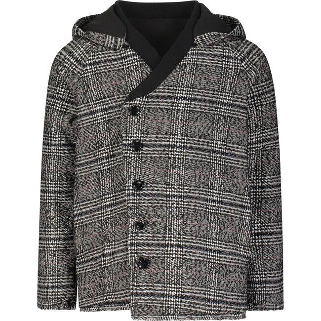 The Thrill Seeker Coat, Wool Black Plaid