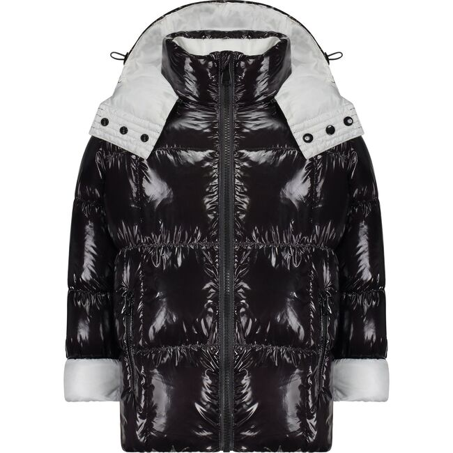 The Adventurer Coat, Black and White Contrast