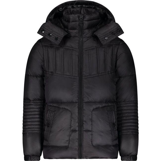 The Futurist Coat, Matt Black - Puffers & Down Jackets - 1