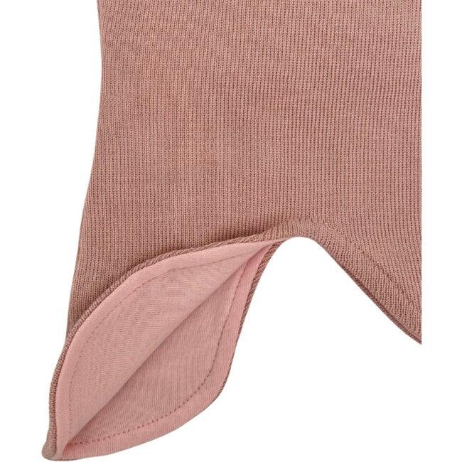 Knit Baby Balaclava, Rose Petal