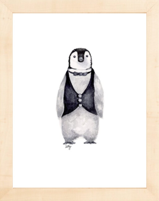 Fancy Animals Print, Penguin