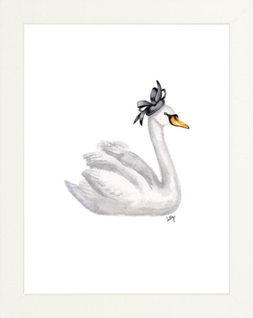 Fancy Animals Print, Swan