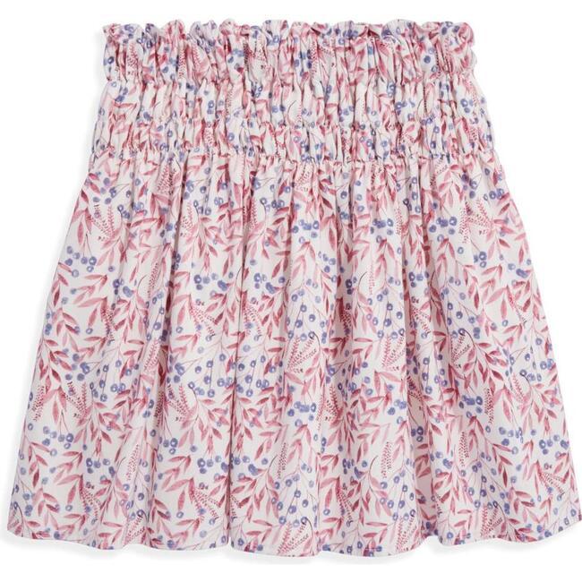 Smocked Skirt, Plum Blossom