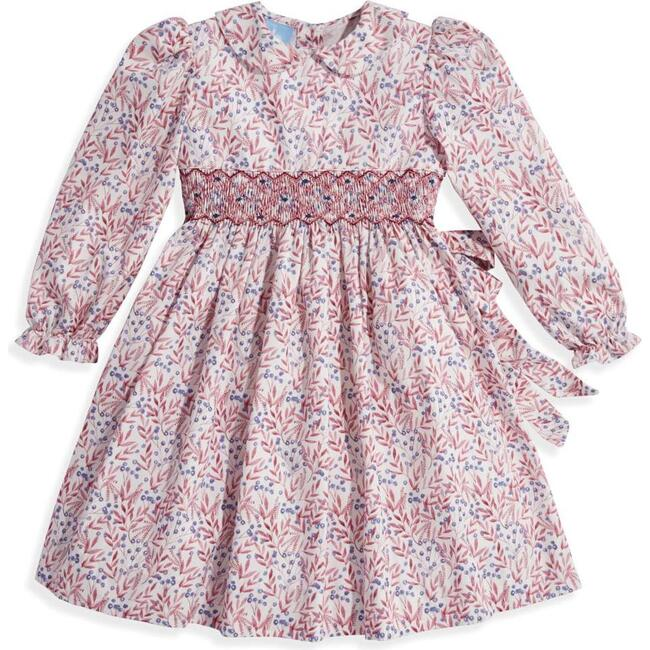Smocked Peter Pan Dress, Plum Blossom