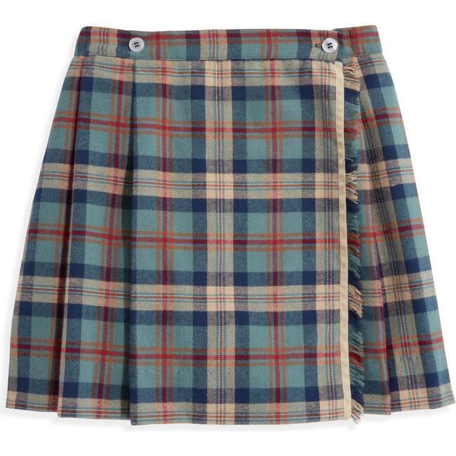 Plaid Wrap Skirt, Mulberry Plaid