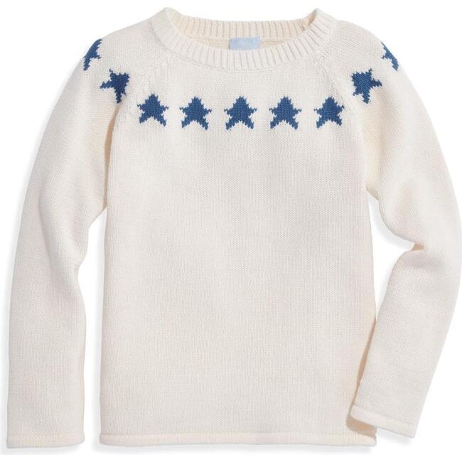 Intarsia Star Pullover, Ivory