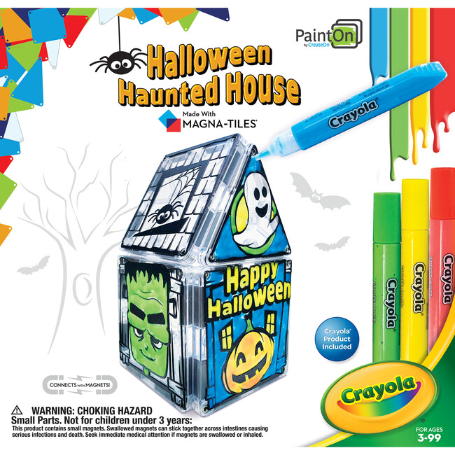 PaintOn Halloween Haunted House Magna-Tiles Structure Set