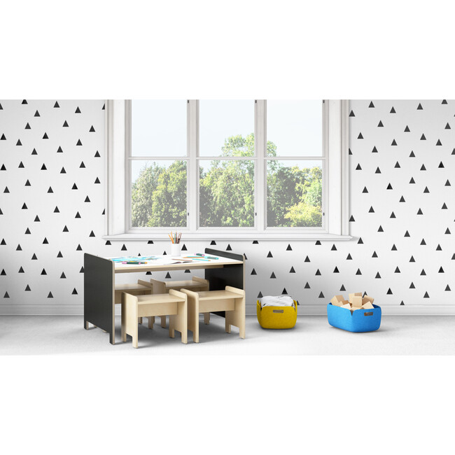 Juno Playtable And Stools Set, Onyx
