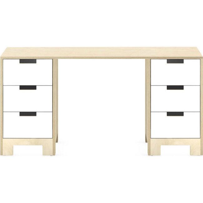 Juno Doublewide Desk, Natural - Desks - 1