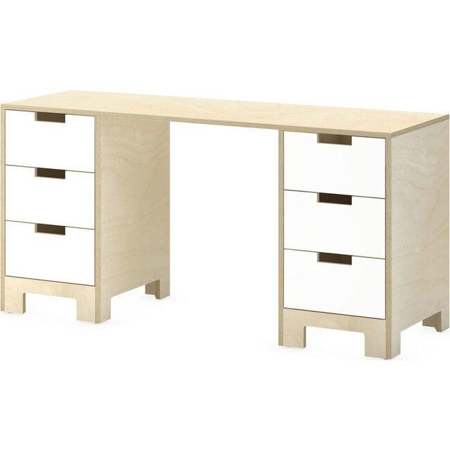 Juno Doublewide Desk, Natural