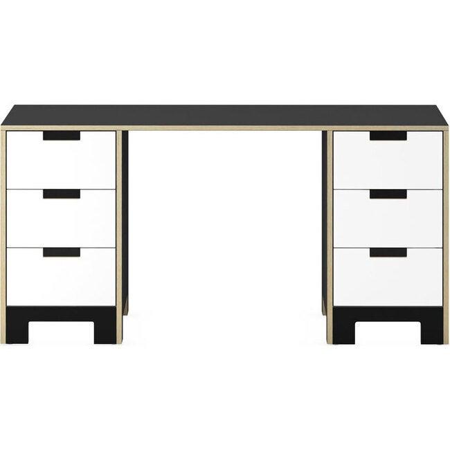 Juno Doublewide Desk, Onyx - Desks - 1