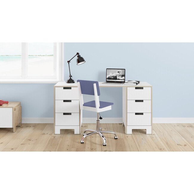 Juno Doublewide Desk, White