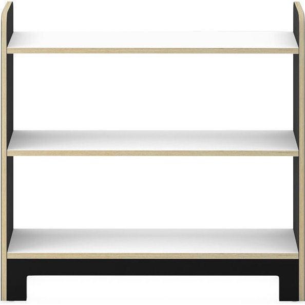Juno Short Bookcase, Onyx