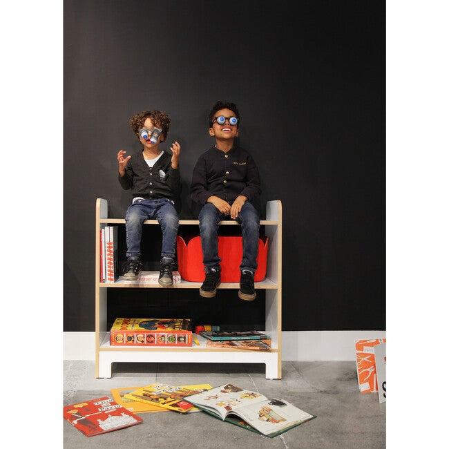 Juno Short Bookcase, White