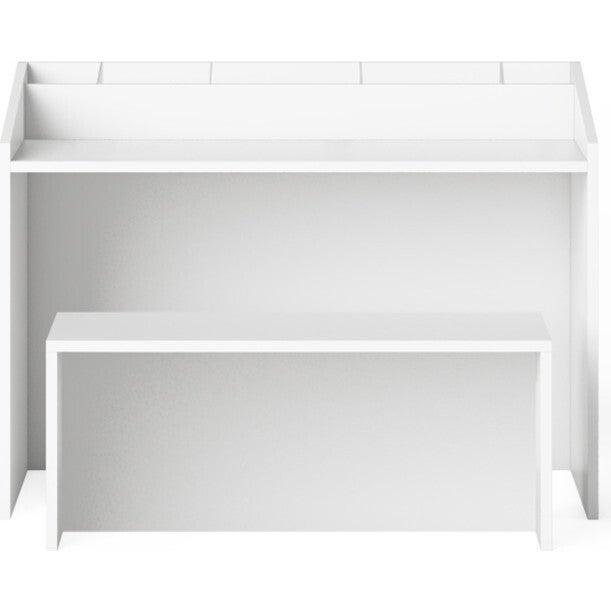 Indi Art Desk & Seat, White - Desks - 1