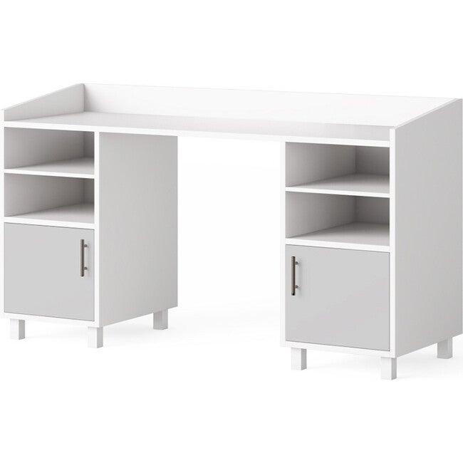 Indi Doublewide Desk, Gray