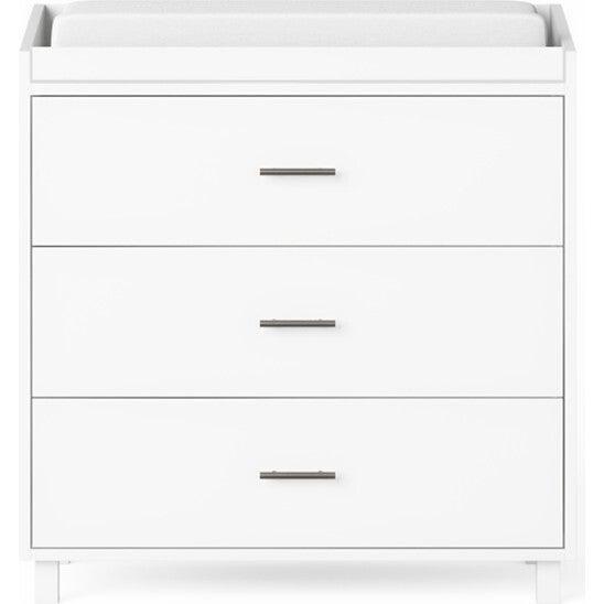 Indi 3 Drawer Changer Dresser, White