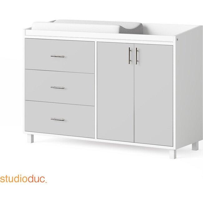 Indi Doublewide Changer Dresser, Gray